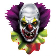 Creepy Carnival Clown's Face Cut-out Decoration